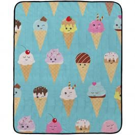 Butter Kings Koc kempingowy Happy Ice creams, 145 x 180 cm