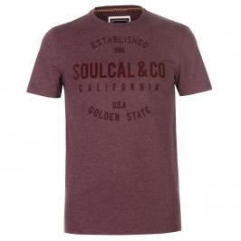 SoulCal Flock T Shirt Mens