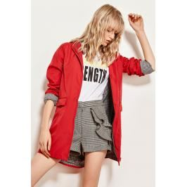 Trendyol Red Hooded Jacket With Pockets