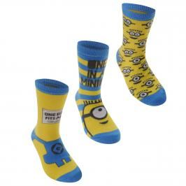 Character Despicable Me Crew Socks Childs